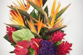 Букеты тропических цветов, свадебные букет из бисера